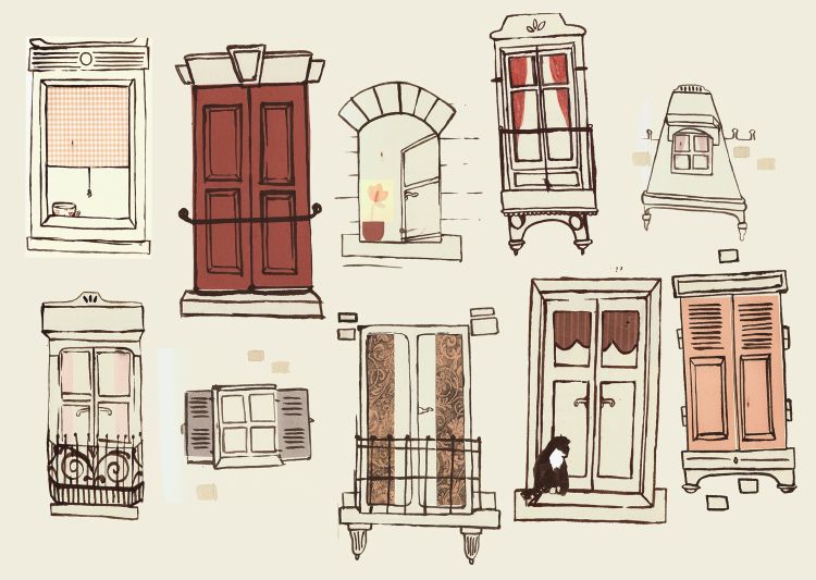 April 2010 the paris apartment for Window design sketch