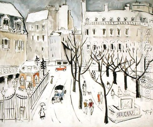 Paris-Snowscene,-1926