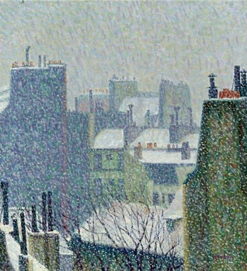 Roofs of Paris in the Snow, Herbin, 1902