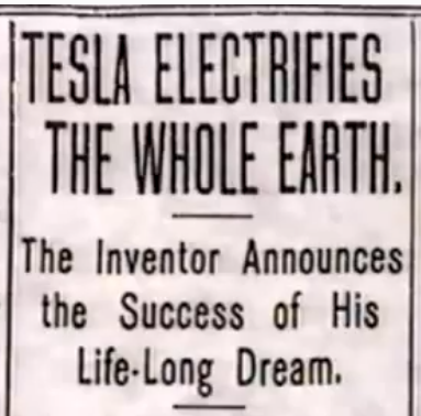 tesla electrifies earth
