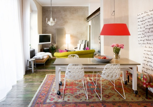 What goes with chartreuse the paris apartment for What color goes with chartreuse