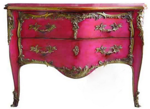 Hot Pink Commode