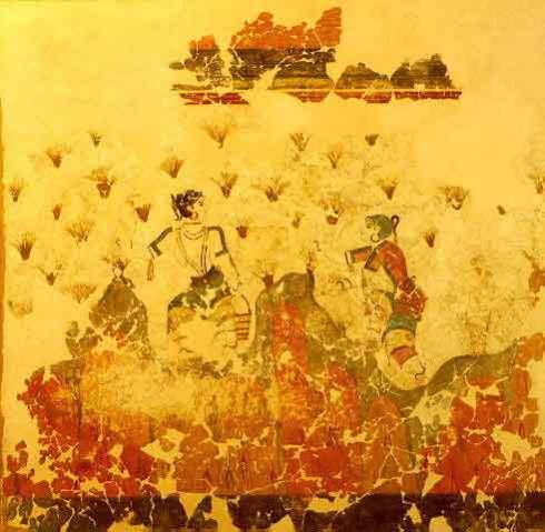 SaffronGatherersSantorini