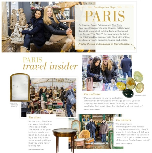 TPA AND OKL SHOP PARIS WITH CLAUDIA STRASSER AND SUSAN FELDMAN