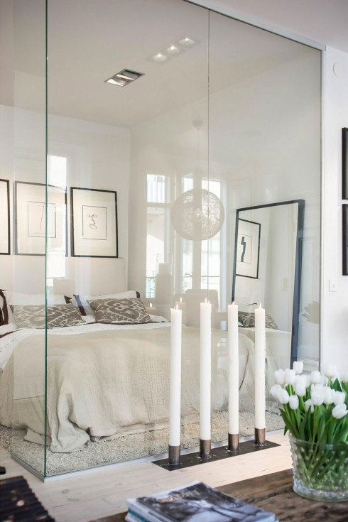 stunning-modern-scandinavian-bedroom-decorating-ideas-offer-huge-glass-wall-detail-with-white-trim-bedding-and-pillow-along-with-attractive-candle-place-ideas-scandinavian-design-bed-bedroom-divine-se-936x1404