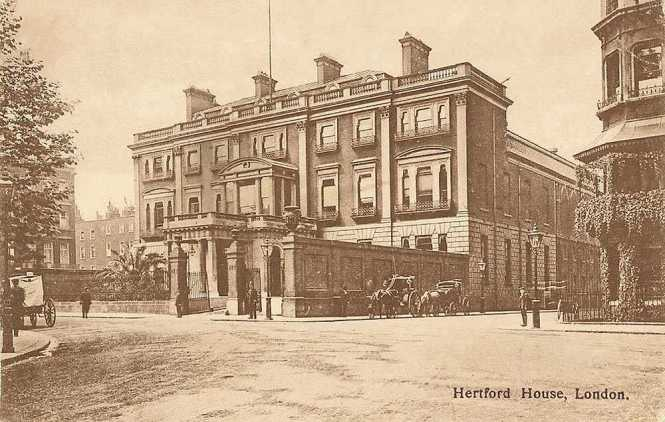 London, Manchester Square, Hertford House - vintage photo - now the Wallace Collection Museum