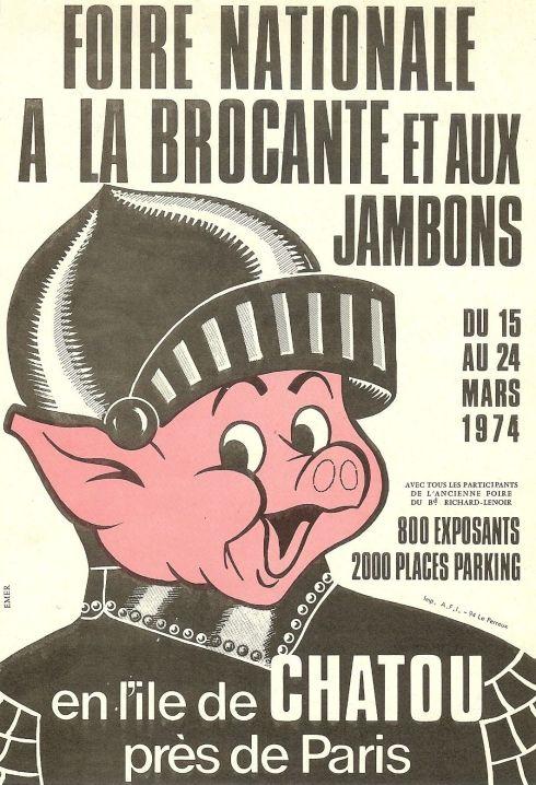 AFFICHETTE-CHATOU-DE-19741