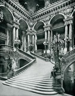 Opera - grand escalier vers 1900