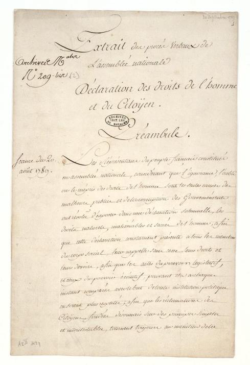 Déclaration_des_droits_de_l'homme_et_du_citoyen_de_1789._Page_1_-_Archives_Nationales_-_AE-II-1129